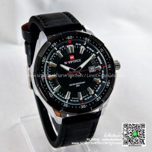 นาฬิกา Naviforce NF9056 สายหนัง แนวดูดี สีดำ-ขอบเงิน รุ่นขายดี ส่งฟรี มีบริการเก็บเงินปลายทาง
