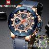 นาฬิกา Naviforce NF9159 สายหนัง สีน้ำเงินสุดเท่ ของแท้พร้อมกล่อง รับประกัน 1 ปี ส่งฟรี