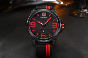 นาฬิกา Naviforce NF9098 สายซีลีโคน สีดำ-แดง สวยม๊าก ของแท้ พร้อมกล่อง รับประกัน 1 ปี ส่งฟรี มีบริการเก็บเงินปลายทาง