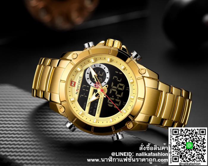 นาฬิกา Naviforce NF9163 สายสแตนเลส สีทอง รุ่นใหม่