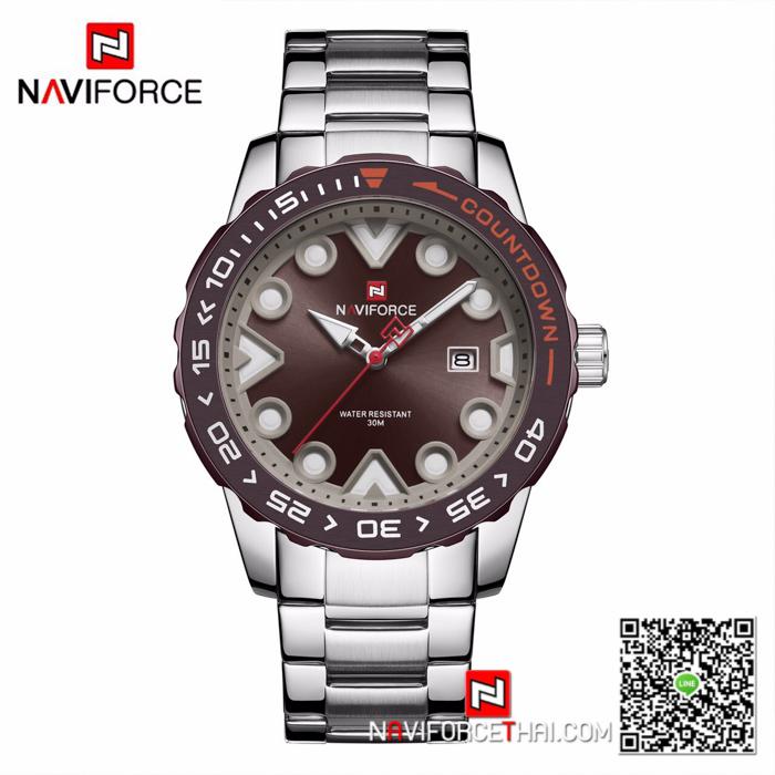 นาฬิกา Naviforce NF 9178 สีน้ำตาล สุดคูล สุดเข้ม ของเเท้ พร้อมกล่อง รับประกัน 1 ปี ส่งฟรี มีบริการเก็บเงินปลายทาง