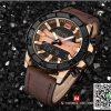 นาฬิกา Naviforce NF 9114 เรือนเท่ห์ สีน้ำตาล สายหนัง ของเเท้ พร้อมกล่อง รับประกัน 1 ปี ส่งฟรี มีบริการเก็บเงินปลายทาง